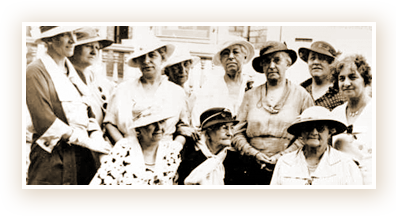 Women's Christian Association members in an undated file photo
